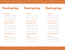 Tall And Narrow Menu Template