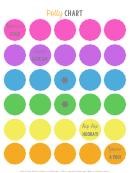 Multicolor Potty Training Sticker Chart