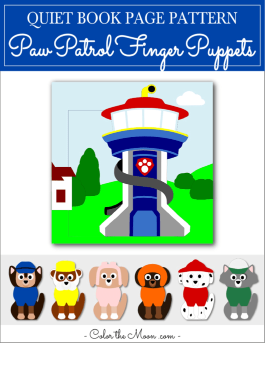 Paw Patrol Finger Puppet Template Printable Pdf Download