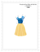 Disneybound Snow White With Tulle Skirt Paper Doll Template