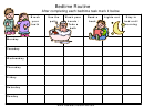 Illustrative Bedtime Routine Chart