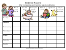 Good Kids Bedtime Routine Chart Template