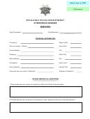 Community Academy Application Form