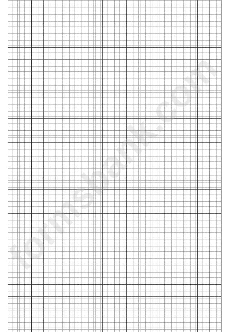 Multi-Colour Graph Paper Template