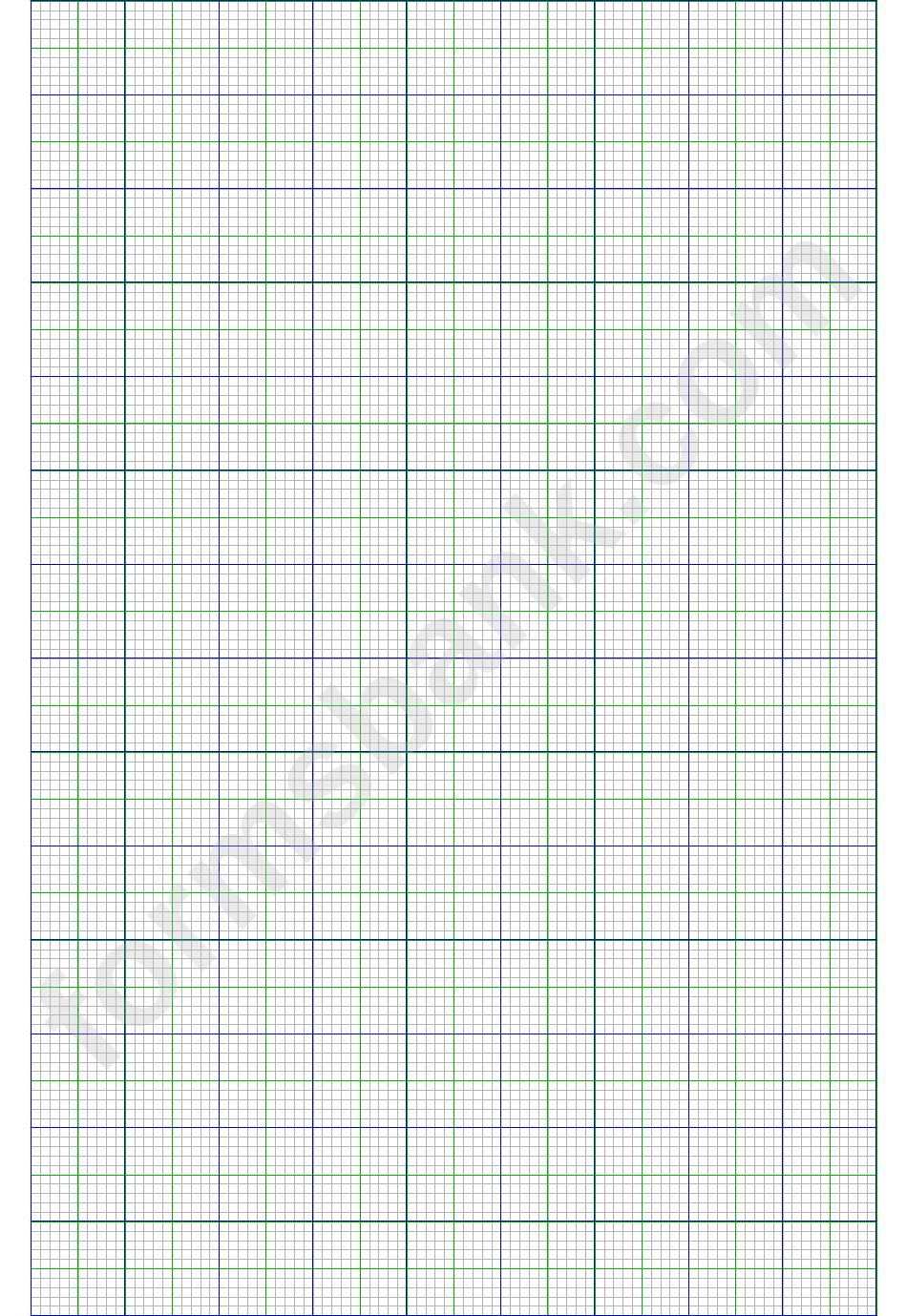 Multi-Color Graph Paper Template