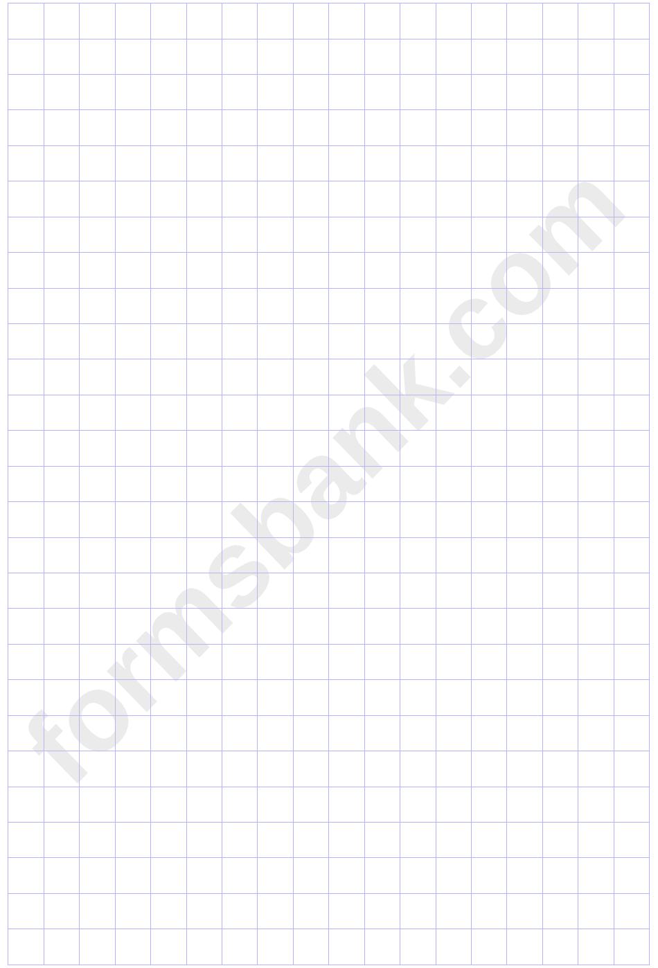 Plain Blue Graph Paper Template