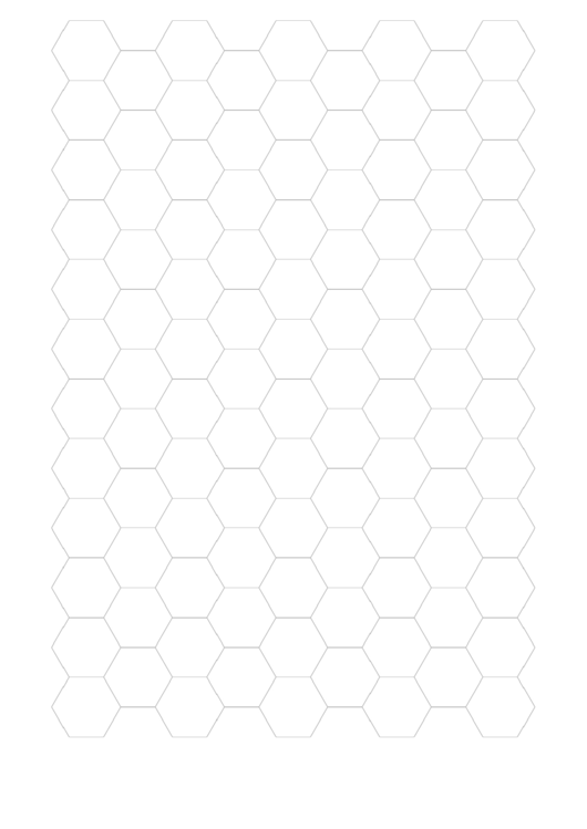 Hexagonal Graph Paper Template Printable pdf