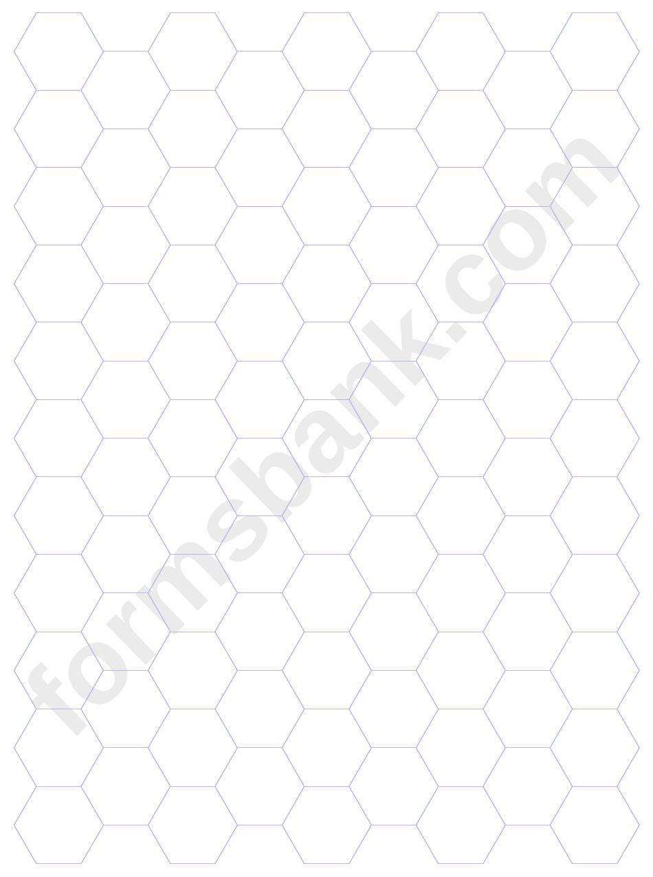 Blue Hexagonal Graph Paper Template
