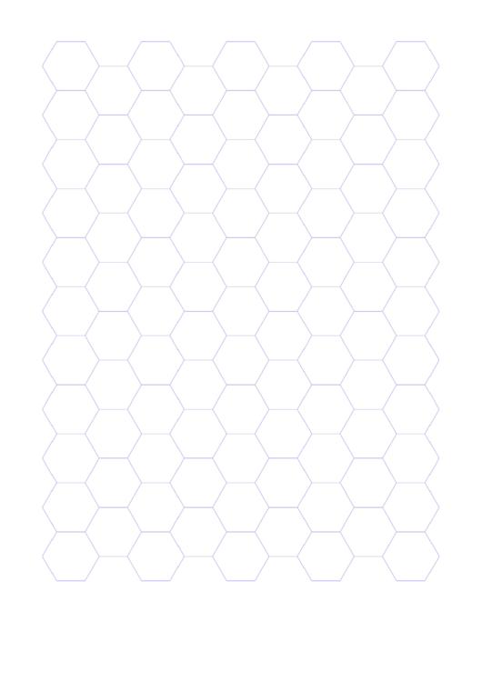 Blue Hexagonal Graph Paper Template Printable pdf
