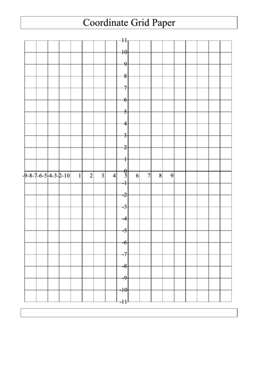 Coordinate Grid Paper (large Grid)