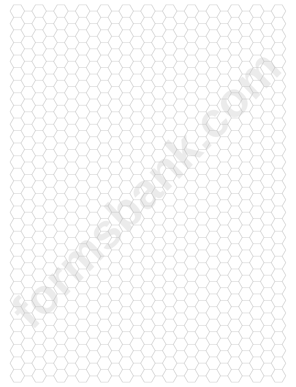 Grey Hexagonal Graph Paper Template
