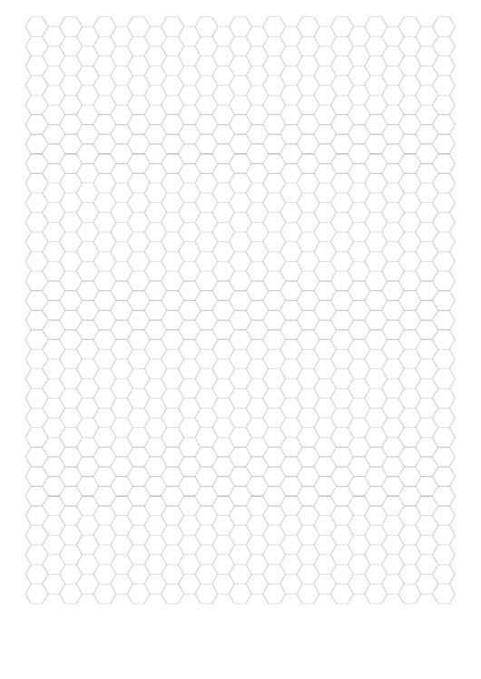 Grey Hexagonal Graph Paper Template Printable pdf