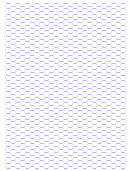 Blue Hexagonal Graph Paper Template