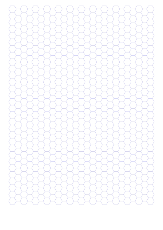 Blue Hexagonal Graph Paper Template Printable pdf