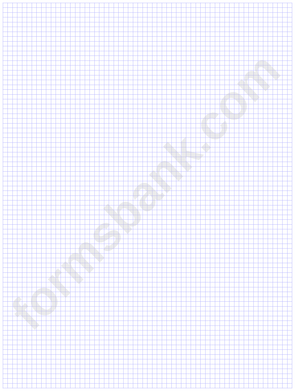 Plain Blue Graph Paper Template