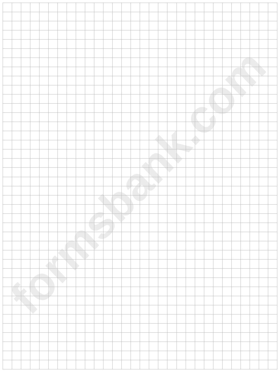 Plain Grey Graph Paper Template