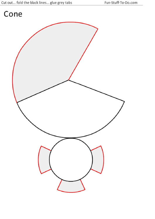 cone shape template printable pdf download