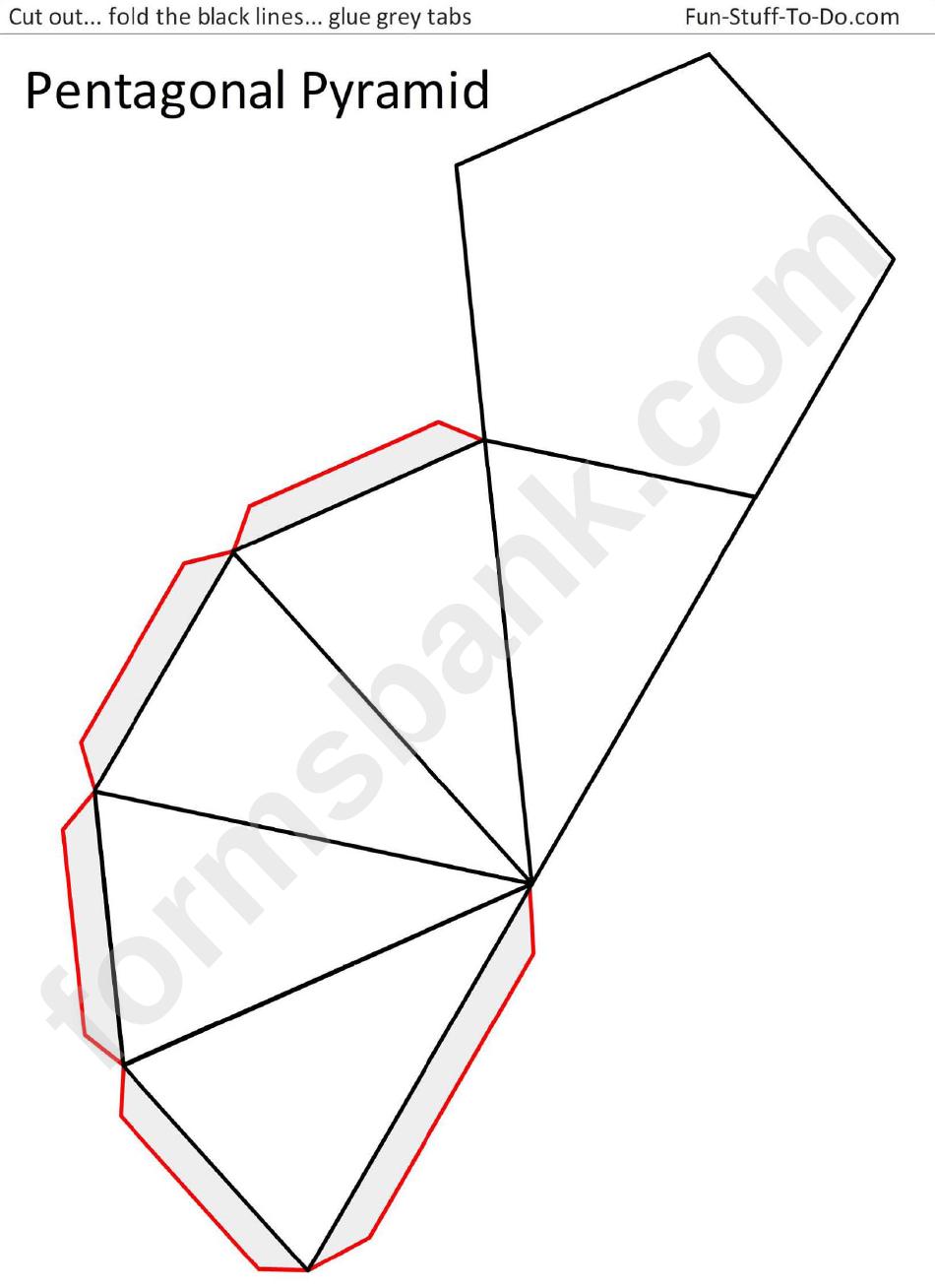 Pentagonal Pyramid Template printable pdf download