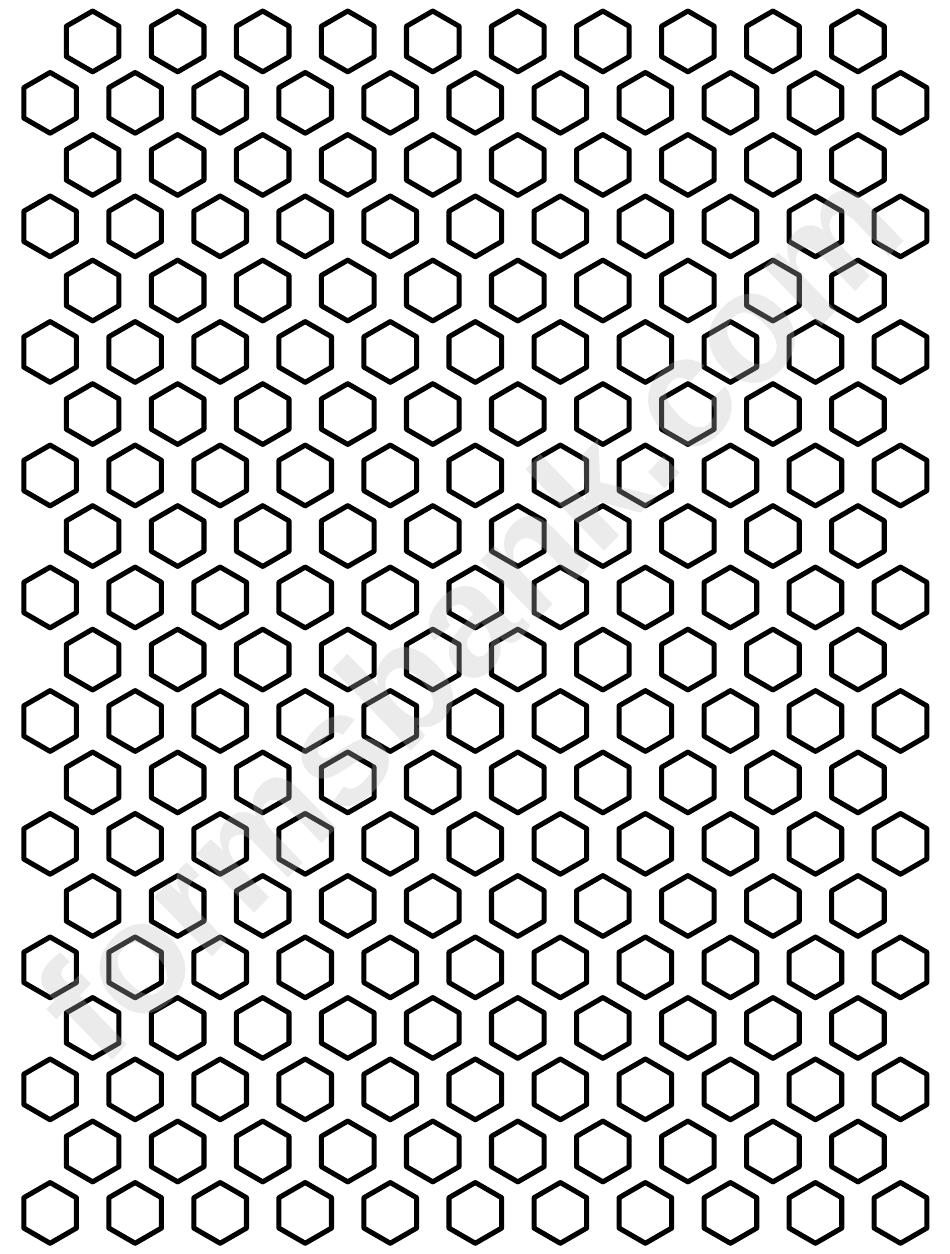 0 5 inch hexagon pattern template printable pdf download