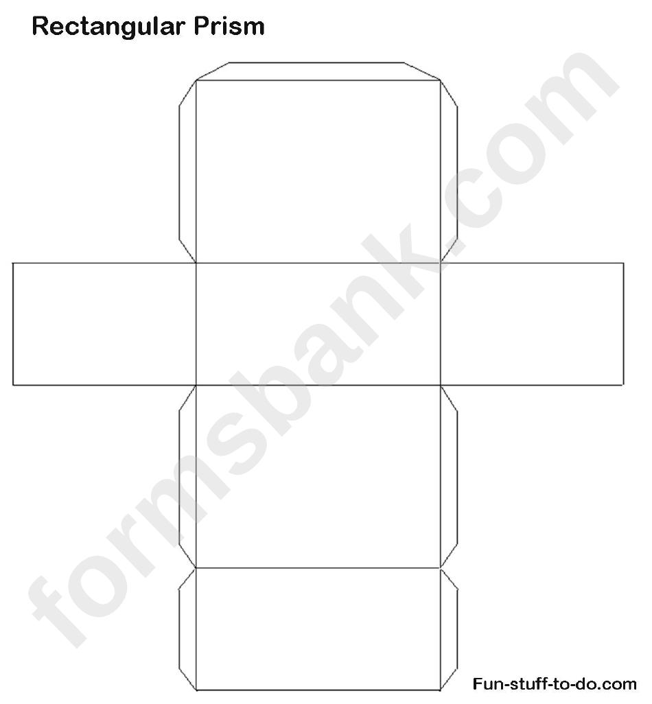 Rectangular Prism Templates Printable Pdf Download