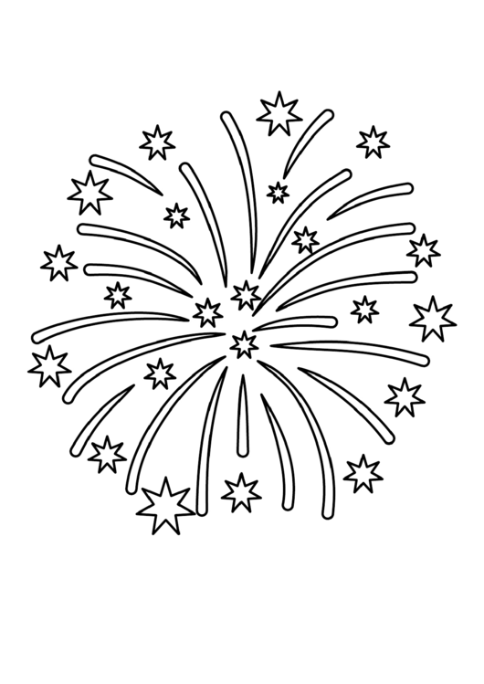 Fireworks Pattern Template