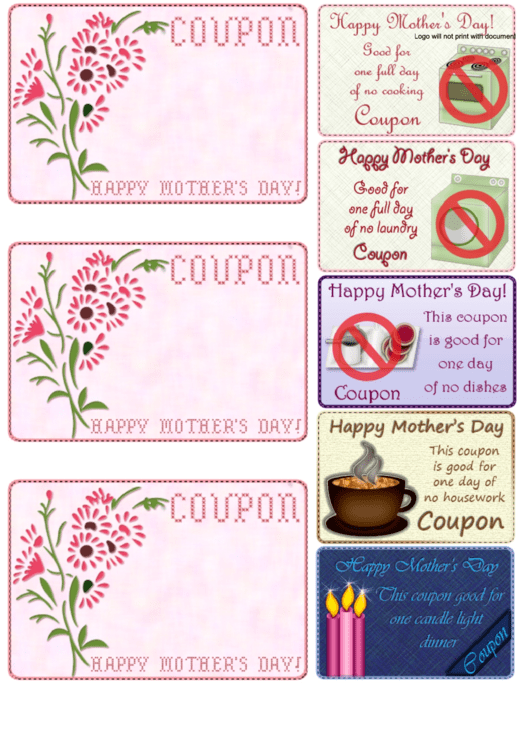 Happy Mother's Day Coupons Template