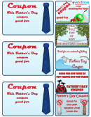 Father's Day Coupons Template