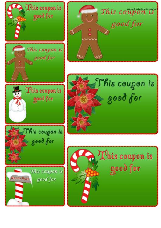 Christmas Coupons Template