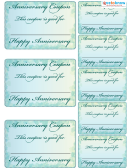Happy Anniversary Coupons Template