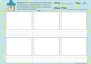 Storyboard Template For Kids - 6 Pictures With Explaining Text