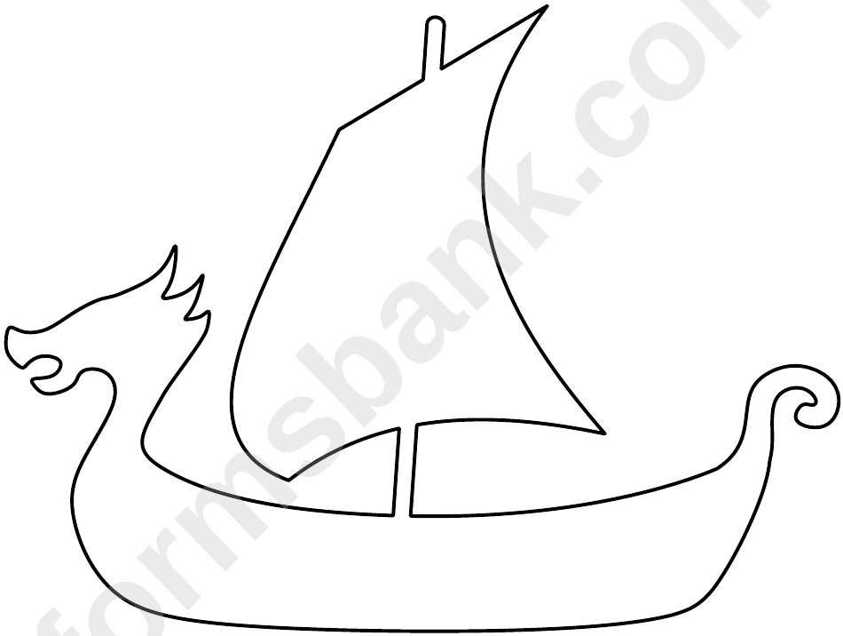 Viking Ship Pattern Template Printable Pdf Download