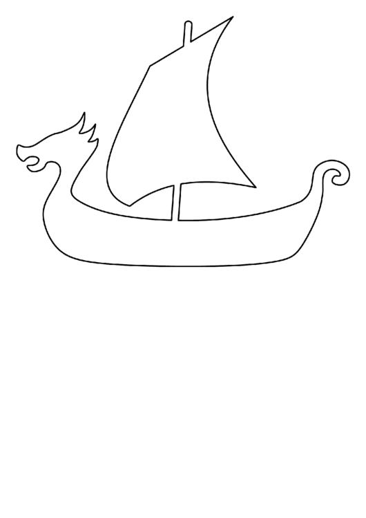 Paper Boat Template Templates Viking Ship Pattern