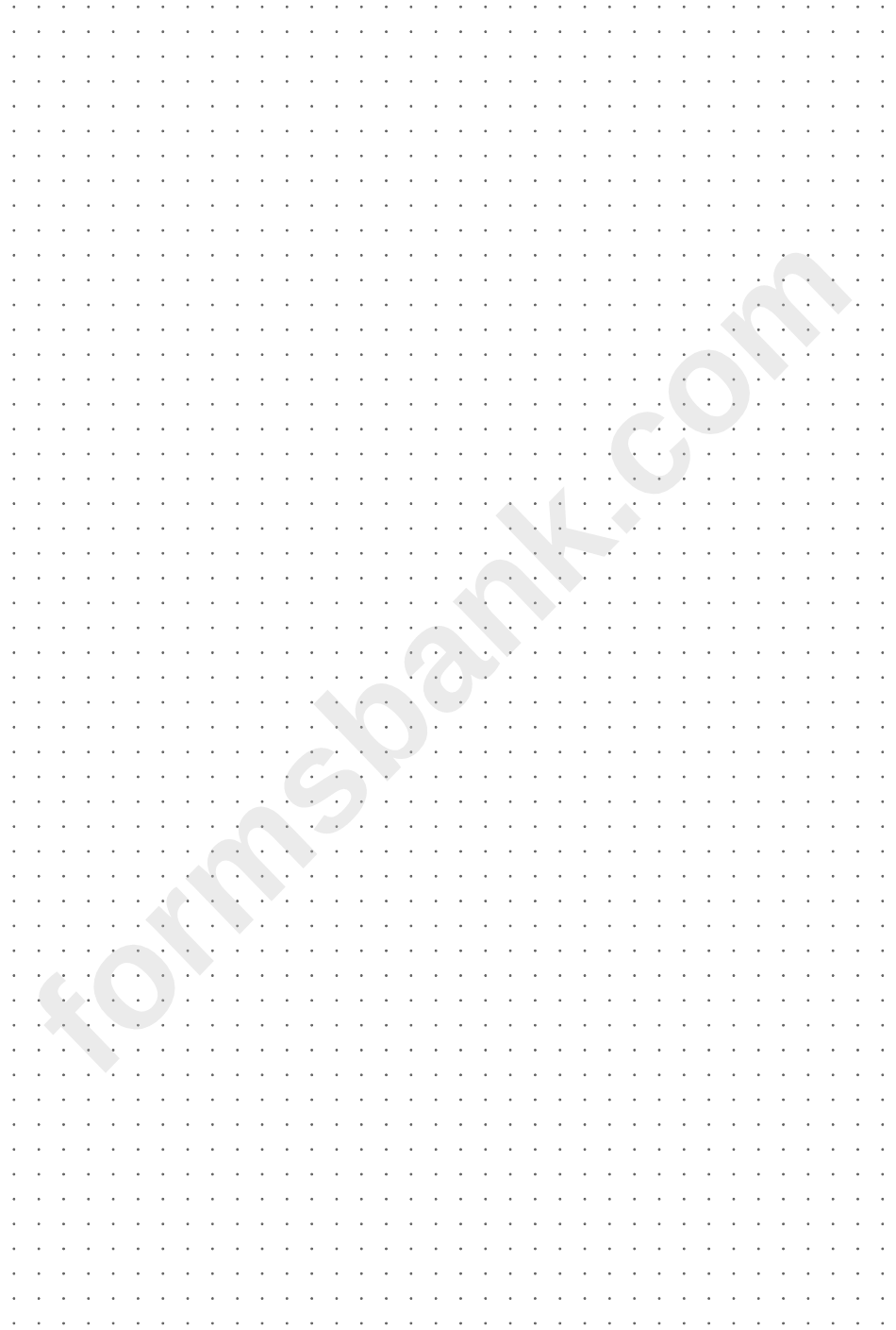 Grey Dotted Paper Template Printable Pdf Download