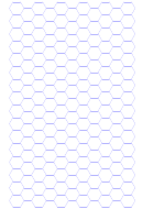 Hexagonal Graph Paper Template