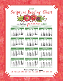 16 X 20 Inch Scripture Reading Chart - 2018