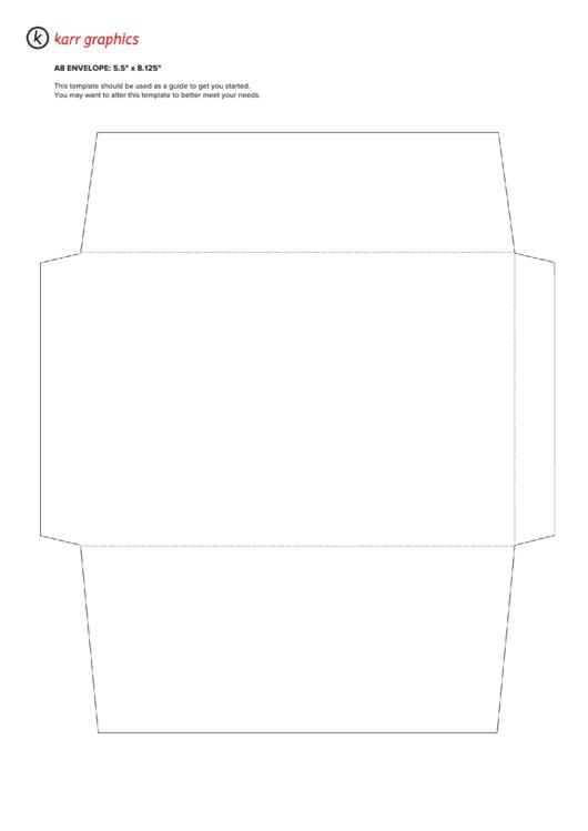 A8 Envelope Template