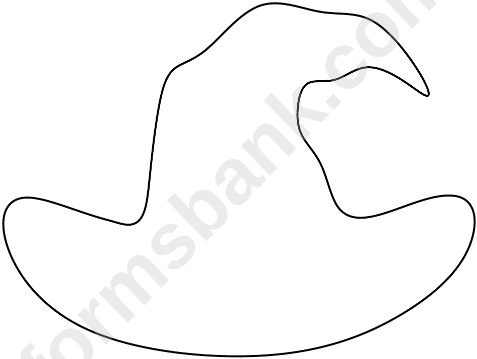 Blank witch hat template printable pdf download for Paper witch hat template