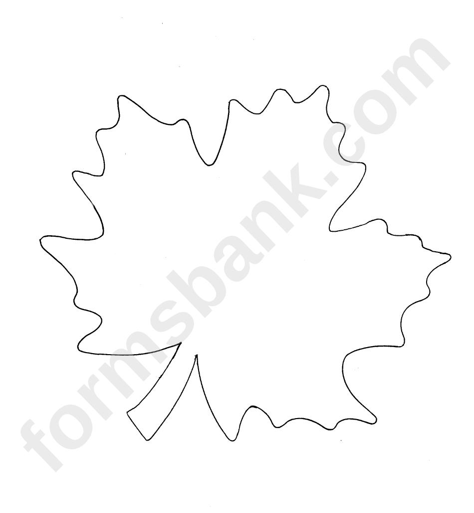 Oak Leaf Template printable pdf download