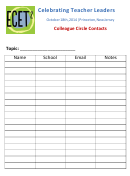 Colleague Circle Contacts Form