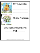 Address And Phone Numbers Information Template