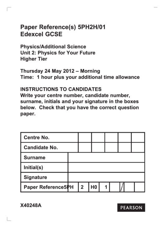 Top 6 Gcse Physics Worksheet Templates free to download in