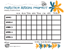 Weekly Practice Chart Template
