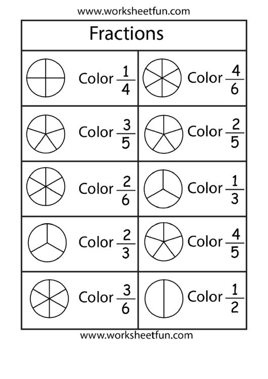 Top Fraction Circles Worksheet Templates Free To Download In Pdf Format Fractions Circle Color Worksheet