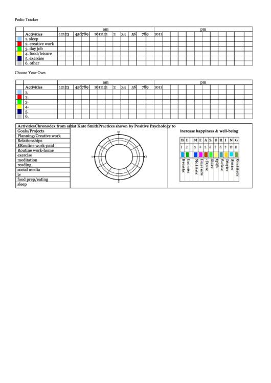 Podio Tracker - Daily Planer Template Printable pdf