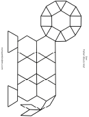 Black And White Lion Pattern Block Mat Template