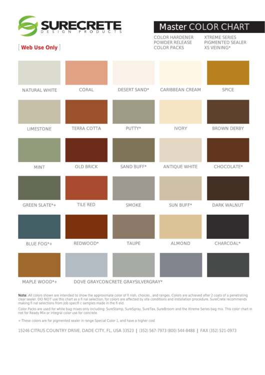 Accent Colors Chart