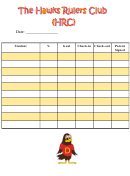 Student Daily Tracking Sheet