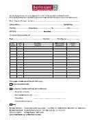 Bid Sheet Template (in Spanish)