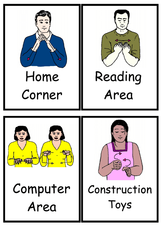 Sign Language Words Chart