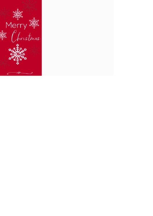 Merry Christmas Photo Template - Red & White, With Snowflakes